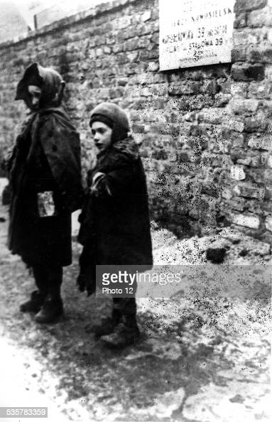 Ghetto in Warsaw Children in the street 20th Poland World War II Jewish Documentation Center
