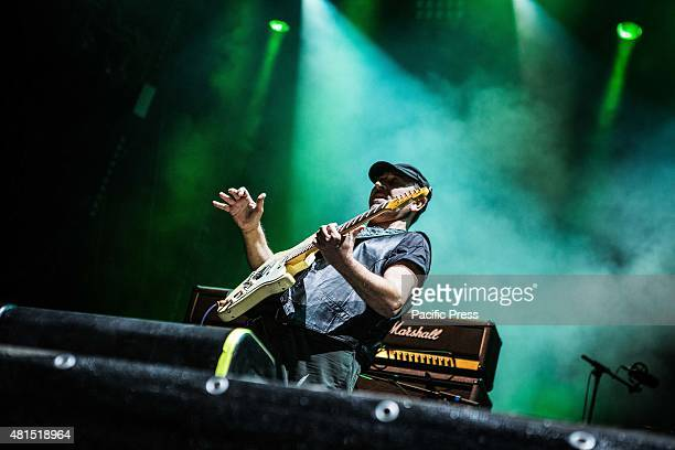 Ghigo Renzulli of the rock band Litfiba pictured on stage as they perform at Moon And Stars Litfiba is an Italian rockband formed in Florence in...