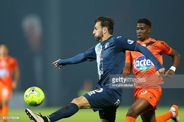 Ghislain Gimbert of Le Havre during the Ligue 2 match between Stade Lavallois and Le Havre AC on November 4 2016 in Laval France