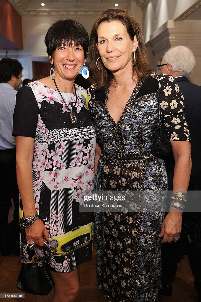 <a gi-track='captionPersonalityLinkClicked' href=/galleries/search?phrase=Ghislaine+Maxwell&family=editorial&specificpeople=617483 ng-click='$event.stopPropagation()'>Ghislaine Maxwell</a> (L) and Martine Assouline attend Martine and Prosper Assouline host book signing for author Berenice Vila Baudry's 'French Style' with the Ambassador of France Francois Delattre at Assouline at The Plaza Hotel on July 9, 2013 in New York City.