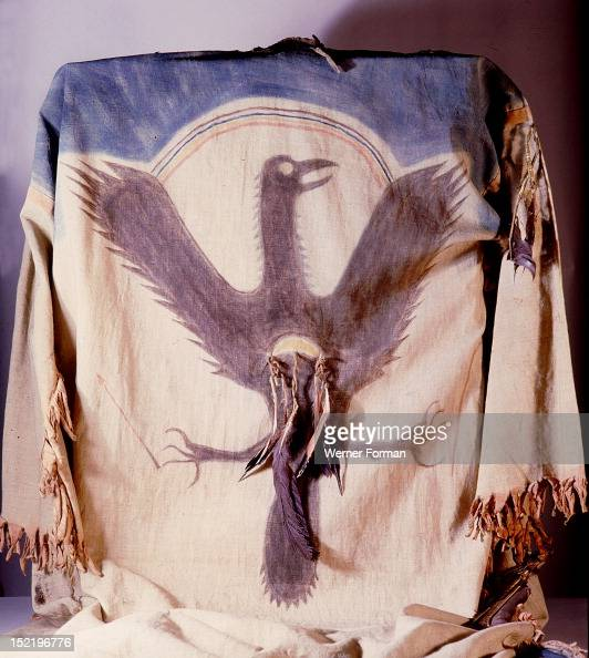 Ghost dance shirt with thunderbird designThe designs for ceremonial clothing were received in dreams or trance visions USA Plains Indian