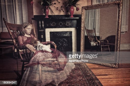 Ghost of little girl sitting in the rocker chair (I)