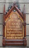 Ghost tour advertisement, Edinburgh, Scotland