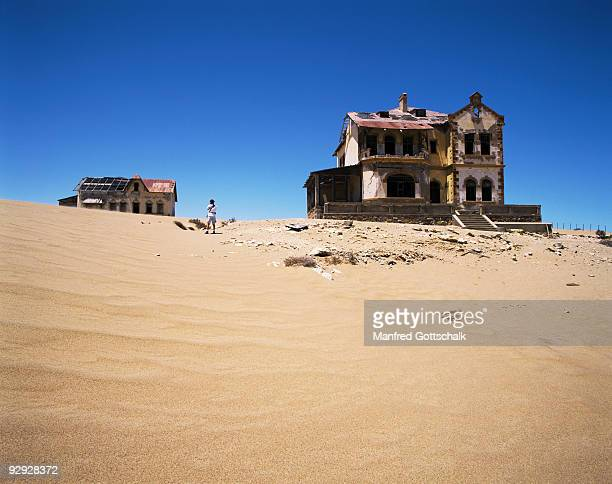 Ghost town at the Restricted Diamond Area , Kolmanskop , Namibia