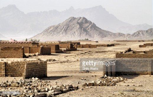 Ghost town in Afghanistan