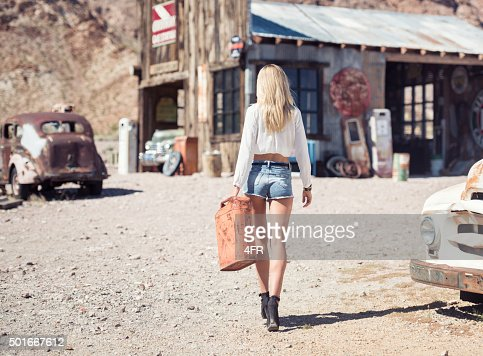 Ghost Town, Woman at a Gas Station