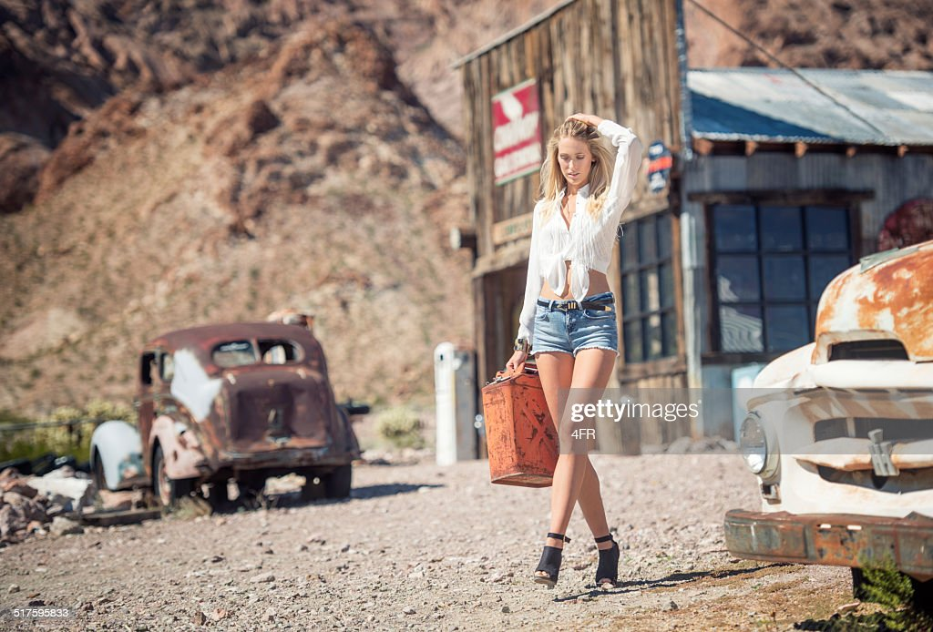 Ghost Town, Woman getting Gas