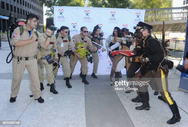 Ghostbuster vs Star Wars Steampunk and Alice Amter participate in the 10th Annual Justice Jog 5/10K Run Walk Hosted By GLAALA held on September 24...