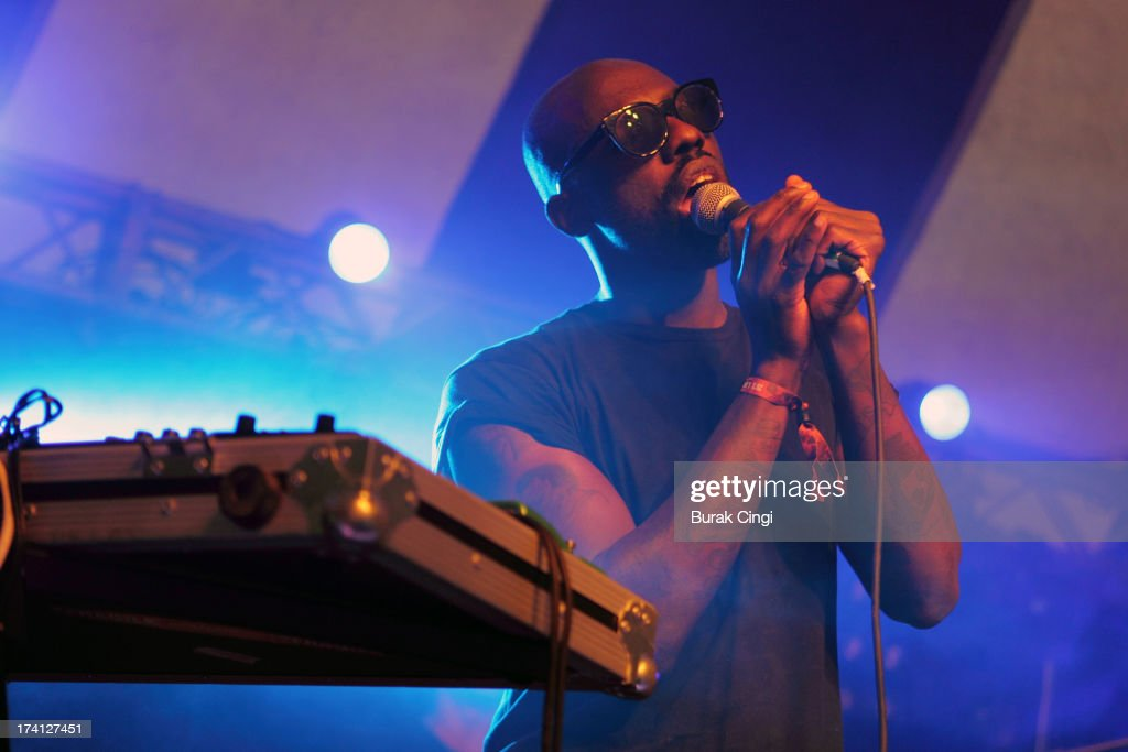 Ghostpoet performs on stage on day 2 of Lovebox Festival 2013 at Victoria Park on July 20, 2013 in London, England.