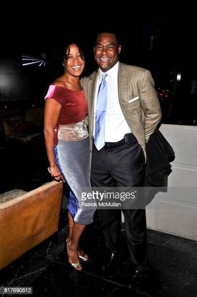 Ghylian Bell and Bernie Jackson attend Success for Kids SFK NY Young Leadership Cocktail Reception at Stone Rose Lounge on October 19 2010 in New...
