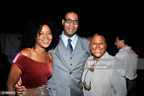Ghylian Bell and Trish Berlin attend Success for Kids SFK NY Young Leadership Cocktail Reception at Stone Rose Lounge on October 19 2010 in New York...