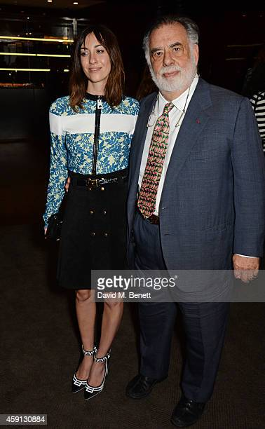 Gia Coppola and Francis Ford Coppola attend the Liberatum Cultural Honour for Francis Ford Coppola at The Bulgari Hotel on November 17 2014 in London...