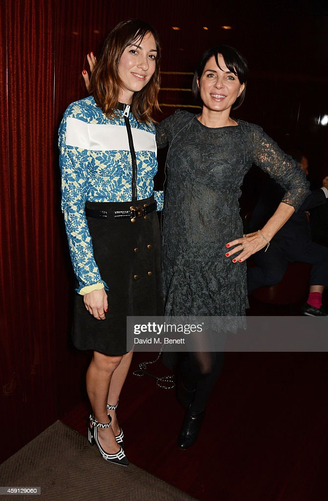 Gia Coppola and Sadie Frost attend the Liberatum Cultural Honour for Francis Ford Coppola at The Bulgari Hotel on November 17 2014 in London England