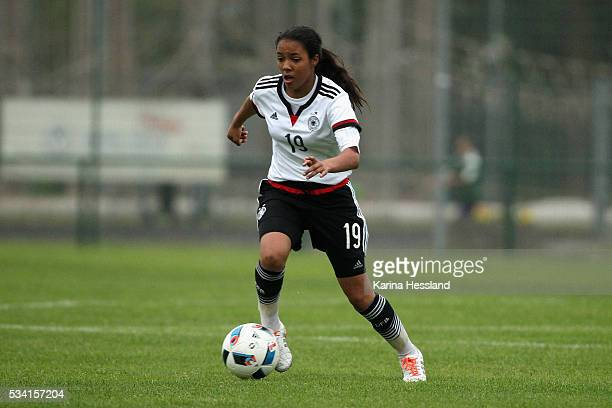 Gia Corley of Germany during the International Friendly match between U15 Girls Germany and U15 Girls Czech Republic at Auenstadion on May 24 2016 in...