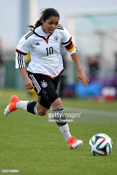 Gia Corley of Germany runs with the ball during the U15 Girl's international friendly match between Belgium and Germany on December 11 2016 in Tubize...