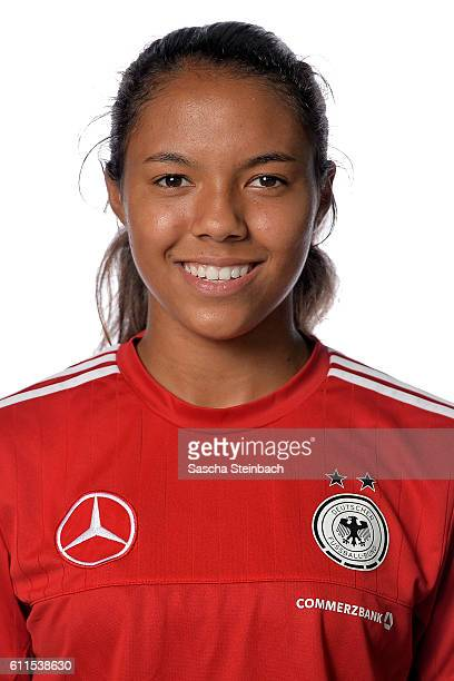 Gia Corley poses during the Germany U15 Girl's team presentation on September 27 2016 in Kamen Germany