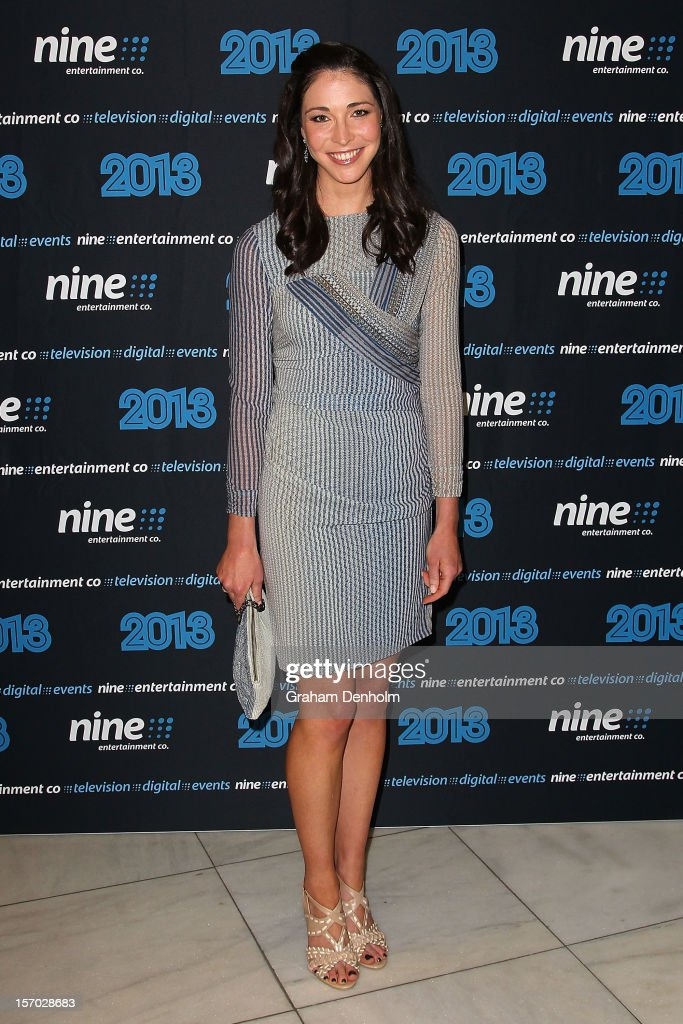Giaan Rooney poses as she arrives at the Nine 2013 program launch at Myer on November 28, 2012 in Melbourne, Australia.