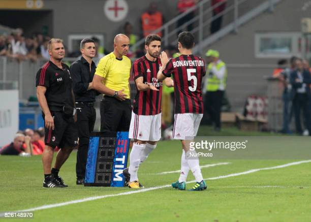 Giacomo Bonaventura during the preliminaries of Europa League 2017/2018 match between Milan v Craiova in Milan on august 3 2017