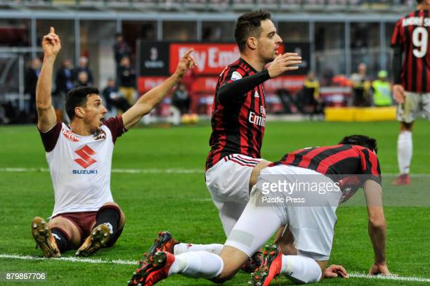 Giacomo Bonaventura of AC Milan during Italian serie A match AC Milan vs Torino FC at San Siro Stadium The Italian Serie A match between AC Milan and...