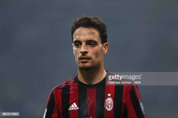 Giacomo Bonaventura of AC Milan during the Serie A match between FC Internazionale and AC Milan at Stadio Giuseppe Meazza on October 15 2017 in Milan...