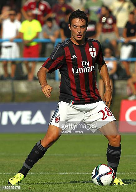 Giacomo Bonaventura of AC Milan in action during the preseason friendly match between AC Milan and Legnano on July 14 2015 in Solbiate Arno Italy