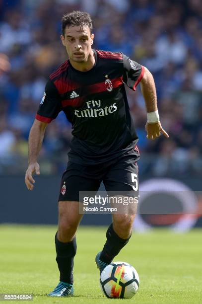 Giacomo Bonaventura of AC Milan in action during the Serie A football match between UC Sampdoria and AC Milan UC Sampdoria wins 20 over AC Milan
