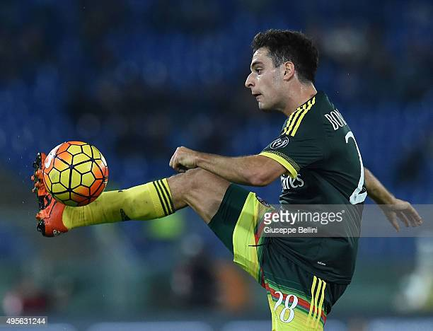 Giacomo Bonaventura of AC Milan in action during the Serie A match between SS Lazio and AC Milan at Stadio Olimpico on November 1 2015 in Rome Italy
