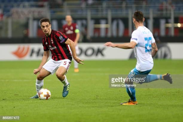 Giacomo Bonaventura of Ac Milan in action during the UEFA Europa League group D football match between AC Milan and HNK Rijeka AC Milan wins 32 over...