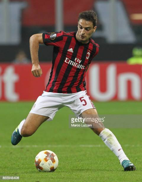 Giacomo Bonaventura of AC Milan in action during the UEFA Europa League group D match between AC Milan and HNK Rijeka at Stadio Giuseppe Meazza on...