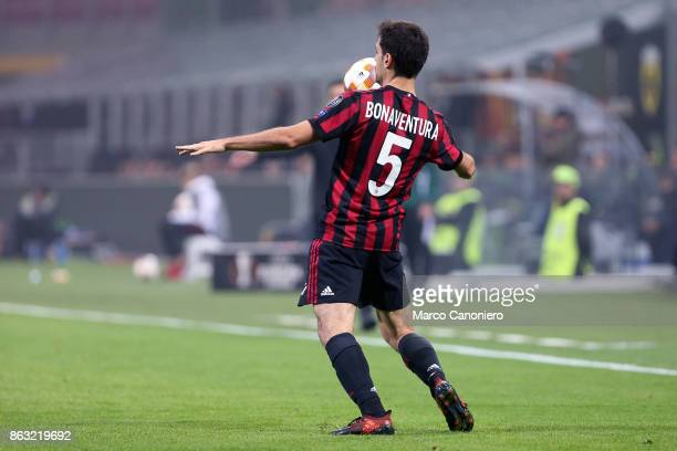 Giacomo Bonaventura of Ac Milan in action during the UEFA Europa League group D football match between AC Milan and AEK Athens