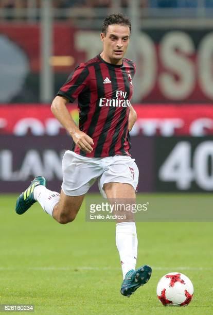 Giacomo Bonaventura of AC Milan in action during the UEFA Europa League Third Qualifying Round Second Leg match between AC Milan and CSU Craiova at...