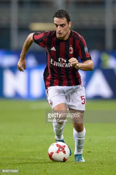 Giacomo Bonaventura of AC Milan in action during the UEFA Europa League qualifier football match between AC Milan and CSU Craiova AC Milan wins 20...