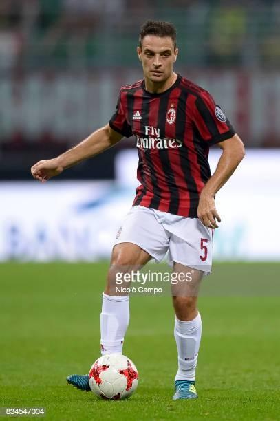 Giacomo Bonaventura of AC Milan in action during the UEFA Europa League Qualifying PlayOffs Round First Leg match between AC Milan and KF Shkendija...