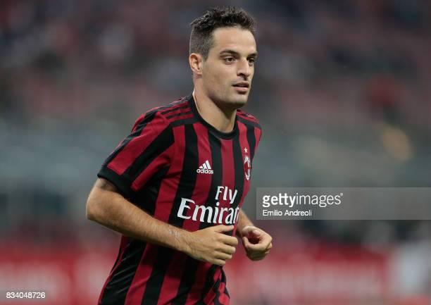 Giacomo Bonaventura of AC Milan looks on during the UEFA Europa League Qualifying PlayOffs round first leg match between AC Milan and KF Shkendija 79...