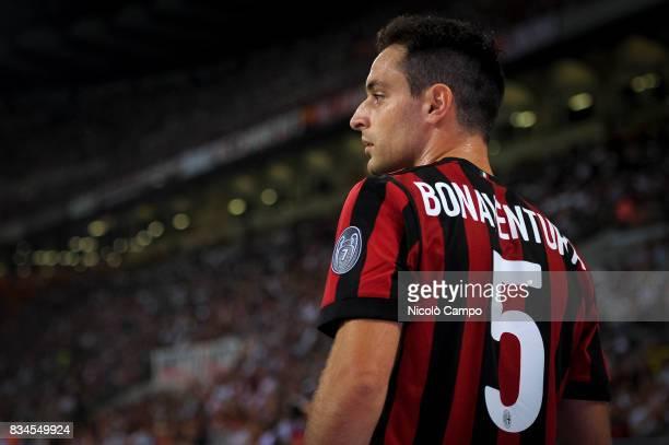 Giacomo Bonaventura of AC Milan looks on during the UEFA Europa League Qualifying PlayOffs Round First Leg match between AC Milan and KF Shkendija AC...