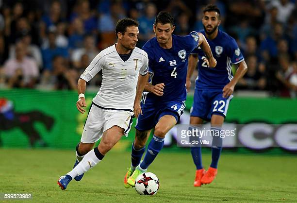 Giacomo Bonaventura of Italy in action during the FIFA 2018 World Cup Qualifier between Israel and Italy at Itztadion Sammy Ofer on September 5 2016...