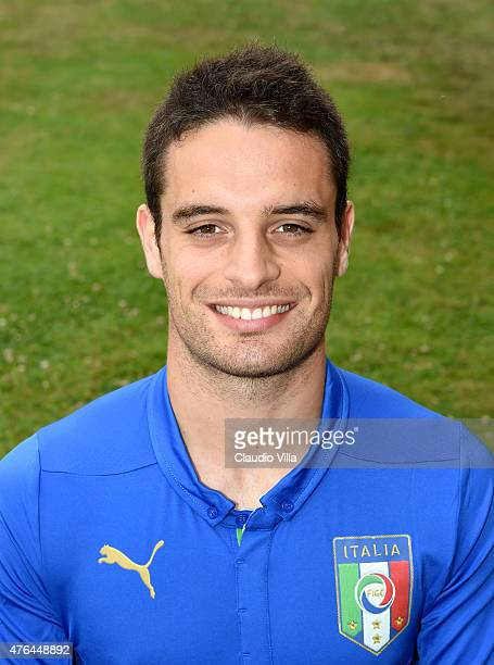 Giacomo Bonaventura of Italy poses for a portrait session at Coverciano on June 9 2015 in Florence Italy