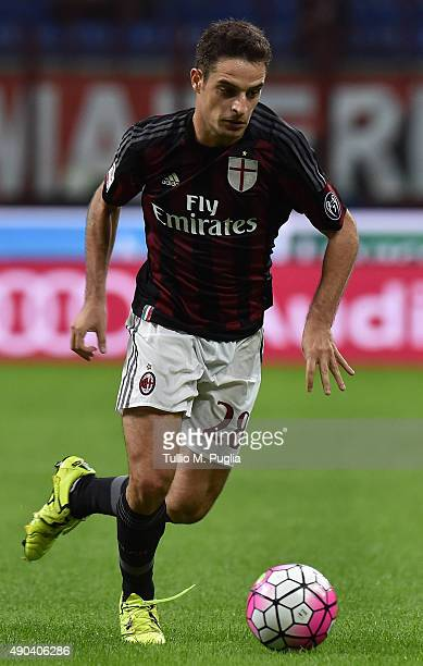 Giacomo Bonaventura of Milan in action during the Serie A match between AC Milan and US Citta di Palermo at Stadio Giuseppe Meazza on September 19...