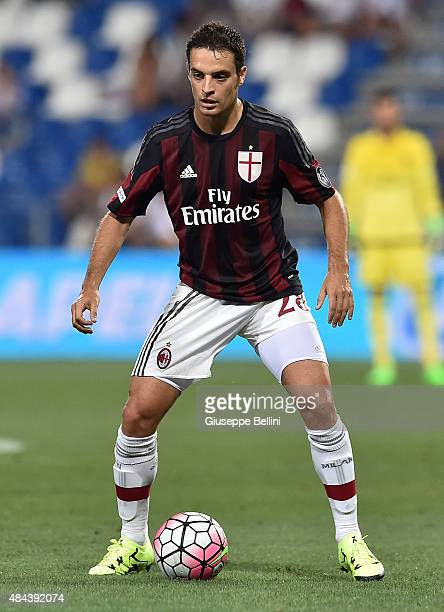 Giacomo Bonaventura of Milan in action during the TIM preseason tournament match between AC Milan and FC Internazionale at Mapei Stadium Città del...