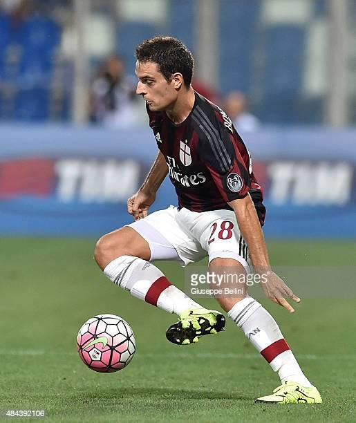 Giacomo Bonaventura of Milan in action during the TIM preseason tournament match between AC Milan and FC Internazionale at Mapei Stadium Città del...
