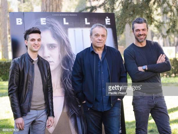 Giacomo Ferrara Claudio Amendola and Luca Argentero attends the photocall of 'Il Permesso'
