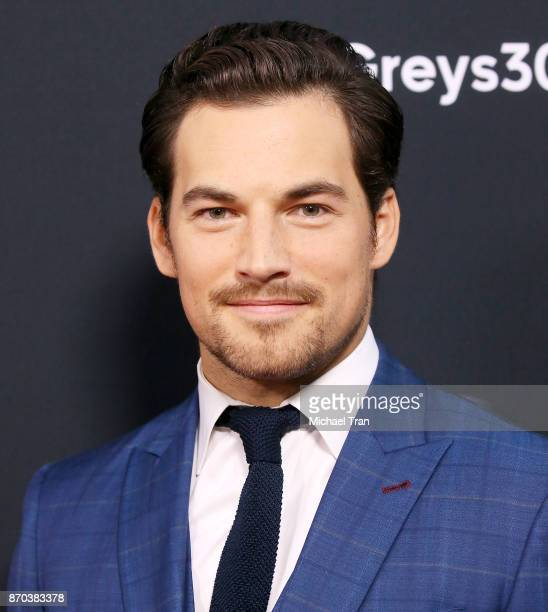 Giacomo Gianniotti arrives at the 300th episode celebration for ABC's 'Grey's Anatomy' held at TAO Hollywood on November 4 2017 in Los Angeles...