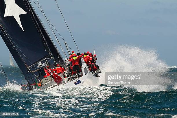 'Giacomo' heads out to sea during the 2014 Sydney To Hobart on December 26 2014 in Sydney Australia