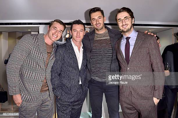 Giacomo Missoni Luke Evans Giacomo Missoni and Marco Missoni attend the Missoni opening store at 219 Rue Saint Honore during the Paris Fashion Week...