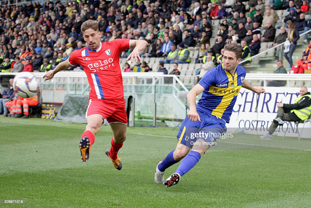 Giacomo Ricci of Parma in action during the Serie A match between Parma Calcio 1913 and Bellaria Igea Marina at Stadio Ennio Tardini on May 1, 2016 in Parma, Italy.