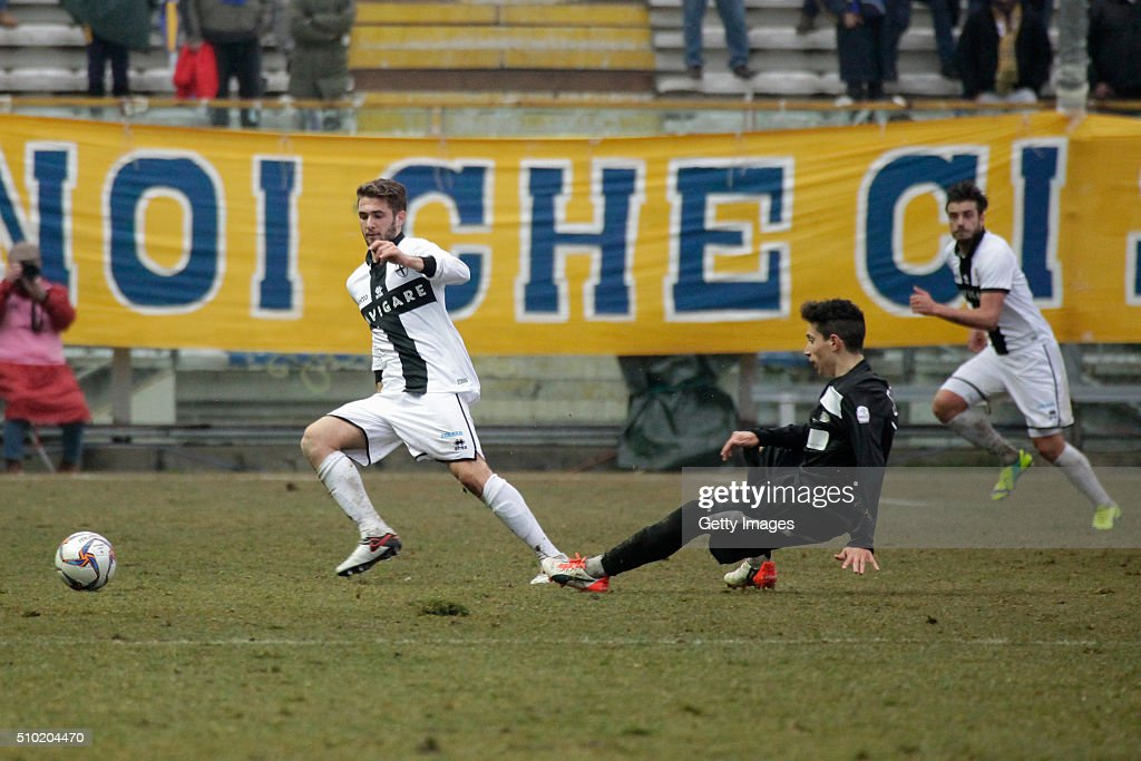 Giacomo Ricci of Parma in action during the Serie D match between Parma Calcio 1913 and Ribelle at Stadio Ennio Tardini on February 14, 2016 in Parma, Italy.