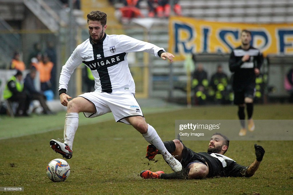 Giacomo Ricci of Parma in actions during the Serie D match between Parma Calcio 1913 and Ribelle at Stadio Ennio Tardini on February 14, 2016 in Parma, Italy.