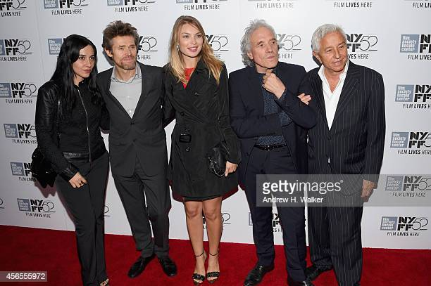 Giada Colagrande Willem Dafoe Cristina Chirac Abel Ferrara and Chris Zois attend the 'Pasolini' premiere during the 52nd New York Film Festival at...