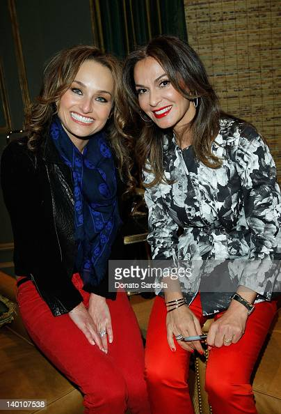Giada De Laurentiis and Angella M Nazarian attend Angella Nazarian's 'Pioneers of the Possible'' Book Launch at Private Residence on February 27 2012...