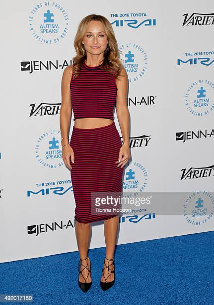 Giada De Laurentiis attends the Autism Speaks to Los Angeles Celebrity Chef Gala at Barker Hangar on October 8 2015 in Santa Monica California